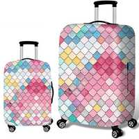 Honana Mermaid Embossment Style Elastic Luggage Cover Trolley Case Cover Durable Suitcase Protector for 18-32 Inch Case Warm Travel Accessories