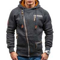 Men's Fashion Zipper Hoodies Casual Sweatshirts