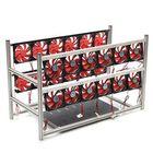 Acheter 16 GPU Steel Coin Miner Mining Frame Steel Case LED Light With 24 Fans For ETH ZEC/BTB