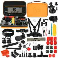 PULUZ PKT26 53 in 1 Accessories Combo Kit Mount Screw with Storage Case for Action Sportscamera