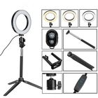 Acheter au meilleur prix bluetooth Tripod Selfie Stick With LED Ring Fill Light with Stand Lighting Kit for Phone Camera