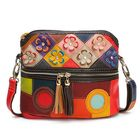 Meilleurs prix Women Genuine Leather Floral Crossbody Bag Vintage Bag