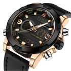 Offres Flash NAVIFORCE NF9097 Fashion Men Dual Display Watch Luxury Leather Strap Sport Watch