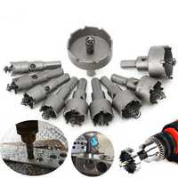 10pcs 16mm-50mm Steel Carbide Tipped Drill Bit Hole Saw Cutter