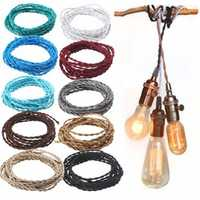 3M Vintage 0.75MM 2 Core Twist Braided Fabric Cable Wire Electric Cord For Pendant Light