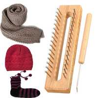 Wooden Scarf Hat Socks Wool Yarn Knitting Loom DIY Craft Wooden Weaving Tools Kit