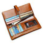 Bon prix Men Womem Genuine Leather Couple Long Wallet Card Holder Pocket Handbag