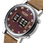 Acheter au meilleur prix MEGIR 2137 Business Style Leather Strap Men Wrist Watch Unique Design Quartz Watches
