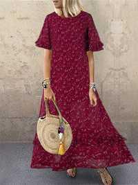 Stringy Selvedge Floral Dress