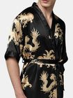 Acheter Mens Plus Size Retro Luxury Stain Japanese Kimono Chinese Dragon Ice Silk Sleepwear Robes