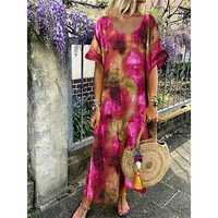 Tie-dyed Print Maxi Dress