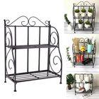 Bon prix Iron Art Foldable Plant Stand Cosmetic Bathroom Kitchen Shelf Storage Rack