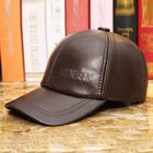 Prix de gros Men Vintage Genuine Leather Baseball Caps