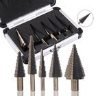 Discount pas cher Drillpro 5pcs 4-35mm HSS Step Drill Bit Set Multiple Hole Metric Size with Aluminum Case