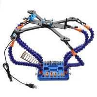 URUAV Tophand Six Arm Soldering Station Multi-functional Tool w/ USB Fan XT30 XT60 Plug Pad for RC Drone