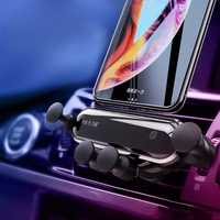 Bakeey Upgrade Metal Gravity Linkage Automatic Lock Air Vent Car Phone Holder for 4.7-6.5 Inch Smart Phone iPhone XS Max Samsung Galaxy S10+