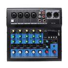 Meilleurs prix Professional 6 Channel Stereo USB Live Mixing Studio Audio Sound Mixer Console