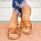 Acheter au meilleur prix Women Large Size Braided Open Toe Summer Beach Flat Sandals