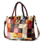 Meilleur prix Women Genuine Leather Vintage Tote Large Capacity Handbag
