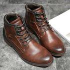 Meilleurs prix Vintage Non-Slip Wear Resistant Casual Soft Leather Boots