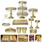 Discount pas cher Crystal Metal Plate Cake Display Cupcake Stand Birthday Party Wedding Decorations