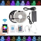 Meilleurs prix 5M 10M IP65 IP20 Color Changeable WiFi Smart LED Strip Light + 24Keys IR Remote Control + Adapter + Controller