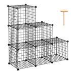 Acheter au meilleur prix 6-Cube Organizer Shelf Kitchen Closet Cloth Bookcase Metal Storage Rack Wire Modular