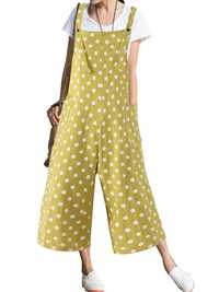Polka Dot Adjustable Strap Jumpsuit
