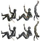 Meilleurs prix Handmade Global Climbing Iron Man Rope Wall Mounted Art Sculpture Climber Toys
