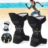 1 Pair Knee Support Power Lift Spring Joint Brace Pads Breathable Knee Pad Fitness Sports Protector