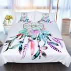 Meilleurs prix 3PCS/1Set Feather Dreamcatcher Duvet Quilt Cover Bedding Sets Single/Double/Queen/King