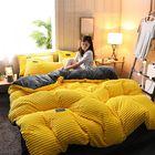 Discount pas cher 3/4Pcs AB Sided Thicken Corduroy Velvet Winter Bedding Sets Full Queen King Size Duvet Cover