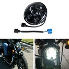 Bon prix 5.75 Inch H4 H13 Motorcycle LED Headlights Sealed Projector Hi-Lo Beam Head Lamp For Harley