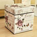 Discount pas cher Retro Folding Chair Storage Box Foot Rest Sofa Ottoman Bench Seat Stool Box Parts Storage Box
