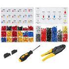 Bon prix 800pcs Tube Shape Connector 370pcs Insulated Terminal Electrical Crimper Kit Wire Connector Terminal Plier Crimping Tool