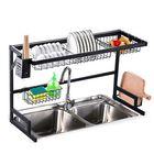 Acheter au meilleur prix 2 Tier Dish Drainer Over Double Sink Drying Rack Draining Tray Fruit Plate Bowl Kitchen Storage Rack