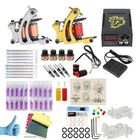 Prix de gros Professional Complete Tattoo Kits 2 Coils Tattoo Machine Set 4 Colors Pigment Set LED Power Supply