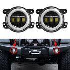 Recommandé 2Pcs 4'' 30W 6LED 6000K 1500LM 10-32V IP67 Round LED Headlights Fog Light Driving Lamps Hi/Low Beam DRL For Jeep Wrangler
