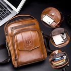 Meilleurs prix Bullcaptain Men Genuine Leather Shoulder Bag For Outdoor