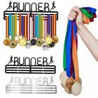 Prix de gros Personalised Runner Medal Hanger Medal Holder Sport Running Medals Rack Home Decorations