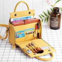 Brenice Women Solid Cosmetic Handbag Capacity Bag