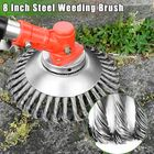 Buy 8 Inch Steel Wire Wheel Garden Lawn Mower Grass Eater Trimmer Head Brush Cutter Tools
