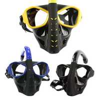 Adults Full Face Dry Anti-fog Snorkeling Diving Mask
