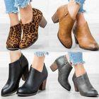 Meilleurs prix Clog High Chunky Heel Short Boots