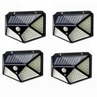 Prix de gros 4pcs 100 LED Solar Powered PIR Motion Sensor Wall Light Outdoor Garden Lamp 3 Modes