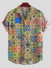 Les plus populaires Mens Summer Floral Printed Breathable Casual Shirts