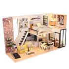 Promotion DIY Assembling Doll House with Music/Sound/Light Modern House Toy for Christmas Birthday Gift