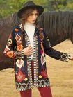 Recommandé Vintage Print Corduroy Long Sleeve Coats For Women