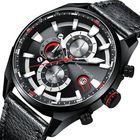 Bon prix MINIFOCUS 0202G Business Men Leather Strap Quartz Watch