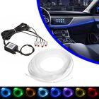 Meilleurs prix 4/5 In 1 LED RGB Car Decoration Atmosphere Lights bluetooth Control Interior Ambient Optical Fiber Lights Lamp